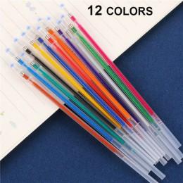 12/24/36/48 wielokolorowy długopis żelowy wyróżnienia napełniania kolorowe błyszczące długopisy szkolne Chancellory zestaw długo