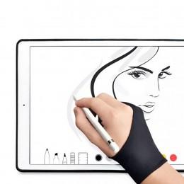 Black 2 Finger Anti-antyzabrudzeniowa rękawica, zarówno dla prawej, jak i lewej ręki rysunek artystyczny dla każdego tablet graf