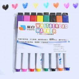 YIBAI 8 sztuk tablica magnetyczna pióro, rysunek i nagrywanie magnes kasowalne suche markery do białych tablic do biurowych przy