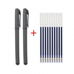 Bullet Pen 0.5mm Pen 2 + 10 Box materiały biurowe akcesoria testowe niebieski czarny czerwona farba pisanie nauka piśmienne pisa