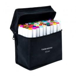 Marker do malowania 30/40/60/80/168 kolory markery do długopisu na bazie alkoholu Dual Head markery do szkicowania pędzelek do z