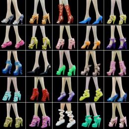 10x losowe buty moda mieszane sandały na wysokim obcasie kapcie kolorowe akcesoria sukienka ubrania dla barbie Doll Girls Play D
