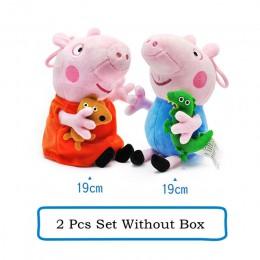 Oryginalna świnka Peppa George zestaw rodzinny Cartoon pluszowe zwierzaki lalka różowa świnia przyjaciel rodzina Party dziewczyn