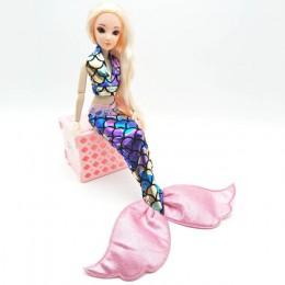 Ręcznie robione lalki suknia na przyjęcie spódnica moda ubrania dla barbie lalka prawdziwej ogon syreny sukienka zabawka dla dzi