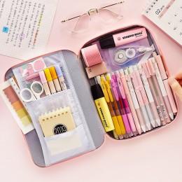 JIANWU 1Pc koreański kreatywny torba na materiały piśmienne dla dziewcząt i chłopców o dużej pojemności piórnik piórnik szkolne