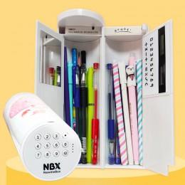 Hasło piórnik wielofunkcyjne usb kalkulator ładowania o dużej pojemności pudełko na długopis szkolne artykuły biurowe dla chłopc