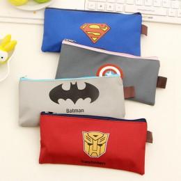 Batman piórnik Superman Hero Series piórnik Captain America piórnik papierniczy dla chłopców dziewcząt szkolne