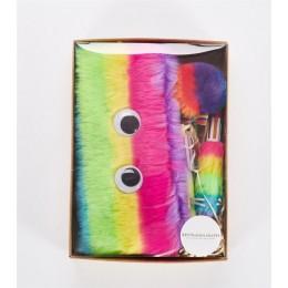 Rainbow piórnik zestaw jakości pluszowe artykuły szkolne upominkowy zestaw artykułów biurowych piórnik szkoła ładny ołówek Box n