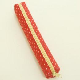 Kawaii małe świeże płótno Zipper piórniki Kawaii Dot moda dla kobiet szkoła Supplie torba na materiały piśmienne