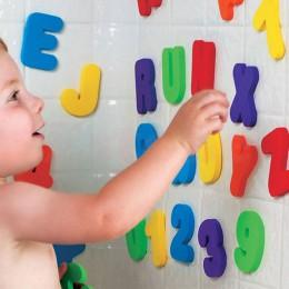 36 sztuk/se 2019 nowe dziecko dzieci dzieci edukacyjne zabawki pianki litery numery pływające łazienka z wanną wanna zabawka dla