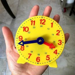 Montessori Student Learning zegar czas nauczyciel zegar w kształcie przekładni 4 Cal 12/24 godziny