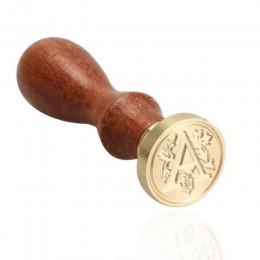 Retro stempel z drewna klasyczny 24 list A-Z alfabet początkowa pieczęć pieczęć woskowa starożytna pieczęć Post dekoracyjne anty
