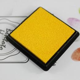 4cm kwadratowy czysty kolor kolorowy atrament pad mini gąbka diy pieczęć odcisk atramentowy papiernicze artykuły szkolne