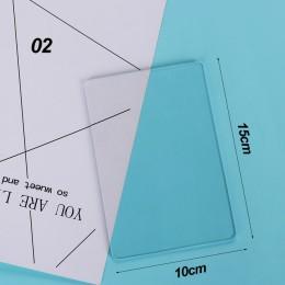 10*10 cm/10*15 cm DIY akrylowe przezroczyste tłoczenie wykrojniki maszyna płytka wymienna Pad papier do scrapbookingu Craft