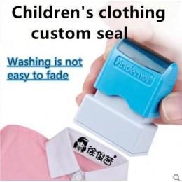 Cute cartoon dzieci pieczęć dla dzieci student ubrania rozdział niestandardowe mundurek szkolny nazwa słowo wodoodporna kosmetyc