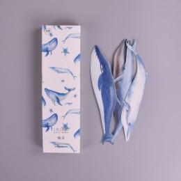 30 sztuk/pudło wieloryb ryby papierowa zakładka papiernicze zakładki stojak na książkę kartka z wiadomością szkolne papelaria