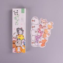 30 sztuk/pudło Cute cartoon park dla zwierząt papierowa zakładka piśmienne zakładki stojak na książkę kartka z wiadomością