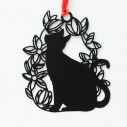 Piękny śliczny Kawaii Metal zakładka czarny kot stojak na książkę do książki papier kreatywny prezent koreańskie piśmiennicze bi