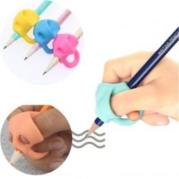 3 zestawy pisania przedszkole dla dzieci początkujący uchwyt korygujący długopis silikonowy pisanie pomoc oprawa poprawna pozycj