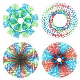 Kreatywna czterokolorowa magiczna deska kreślarska uniwersalny szablon do rysowania władca uczeń edukacja piśmiennicze stale się