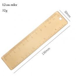 Vintage mosiężna linijka trójkąt linijka kątomierz uczniów zestaw upominkowy narzędzia pomiarowe, 12cm 15cm linijka Kawaii akces