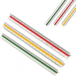 30cm oznaczone kolorami boczne trójkątne skala 1:100/200/250/300/400/500 trójkątne metryczne linijka krawiecka inżynier narzędzi