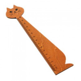 1 sztuk 15cm piękny kot kształt linijka słodkie drewno zwierząt proste władcy prezenty dla dzieci szkolne artykuły szkolne papie