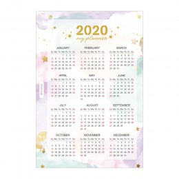 Fromthenon 2020 rok kalendarz dzielniki indeksu akwarela napełniania dla A5A6 6 otwory liści notes spiralny pamiętnik szkoła pap