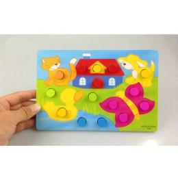 Kolor poznanie pokładzie zabawki edukacyjne montessori dla dzieci drewniane zabawki układanki wczesne uczenie się kolory pasują