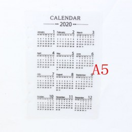 Domikee classic 2020 rok kalendarz pcv 6 otwory indeks dzielnik dla spiral binder planner notebooki artykuły biurowe A5A6