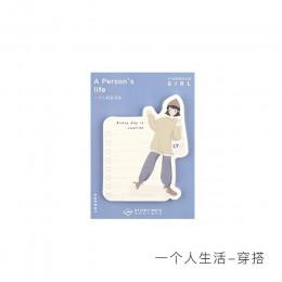30 arkuszy/pad młodzi chłopcy dziewczęta karteczki samoprzylepne Kawaii notatnik naklejki do planowania Marker biurowe artykuły