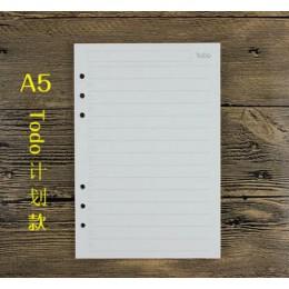 A5/A6 notes spiralny papier wypełniający do Filofax Diario Planner karteczki wewnętrzne z wymiennymi akcesoriami biurowymi papie