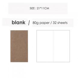 JIANWU kreatywny papier pakowy notes podróżny strona wewnętrzna pamiętnik w różnym stylu