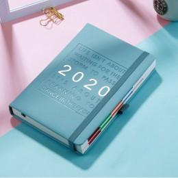 Nowa Agenda mody 2020 zagęścić notatnik A5 skórzany softcover Planner 2020 jan-dec oś czasu wydajność dziennik język angielski