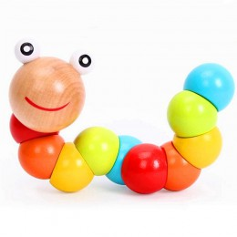 Zabawki montessori drewniane zabawki edukacyjne dla dzieci wczesne uczenie się palce do ćwiczeń dla dzieci elastyczne gry z owad