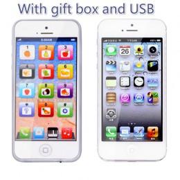 Zabawki edukacyjne telefon komórkowy z LED Baby Kid telefon edukacyjny angielski nauka telefon komórkowy zabawki Chrismtas preze