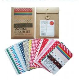 Kawaii papiernicze taśmy maskujące 27 arkuszy filofax papier do notatnika pamiętnik deco naklejki do scrapbookingu/naklejki do p