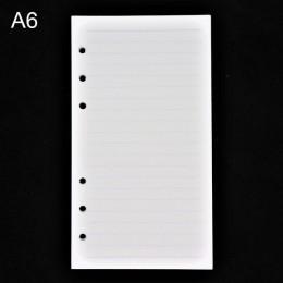 45 sztuk wysokiej jakości notatnik A5/A6 wkładka wkład 6 otwór luźny notes spiralny papier pamiętnik plan wewnętrzny rdzeń papie