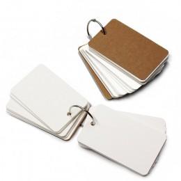 XRHYY 1 szt. Pierścień do spinania łatwe w przekładaniu fiszki karty do nauki, 50 pustych białych stron