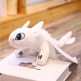25/35/45/60cm jak wytresować smoka 3 bezzębny Anime rysunek nocna furia Light Fury zabawki smok pluszowa lalka zabawki dla dziec