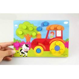 Kolor poznanie pokładzie zabawki edukacyjne montessori dla dzieci drewniane zabawki układanki dla dzieci wczesne uczenie się kol