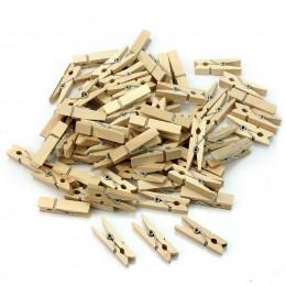 50 sztuk hurtownie bardzo mała kopalnia rozmiar 25mm Mini naturalnie drewniane klipy do klipy fotograficzne Clothespin Craft kli