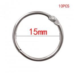Wysokiej jakości 2/3/5/10 sztuk metalowy pierścień Binder 15-80mm DIY albumy luźne liści Book Hoops otwarcie biuro wiążące Suppl