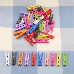 10 sztuk losowe Mini kolorowa wiosna drewniane spinacze ubrania papier fotograficzny Peg klamerka spinacze artystyczne dekoracje
