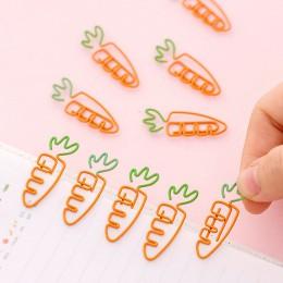 5 sztuk/partia kreatywny Kawaii w kształcie marchewki Metal zakładka spinacz do papieru papiernicze szkolne materiały biurowe Es
