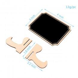 5 sztuk/partia prostokątny drewniany mini tablica do dekoracje weselne tablice szkolne tablica ogłoszeń