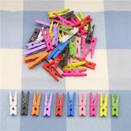 10 sztuk doskonała jakość 25mm Mini kolor drewniane klipsy papier dekoracyjny zdjęcie zaciski sprężynowe do kart wiadomości biur