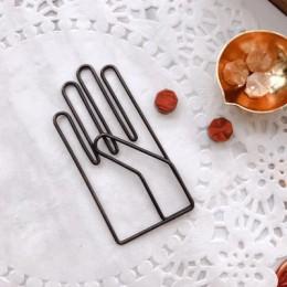 Retro ręcznie kształt De Papel notatki DIY zakładki metalowe klipsy do segregatorów klipsy rybne notatki papier do pisania klips