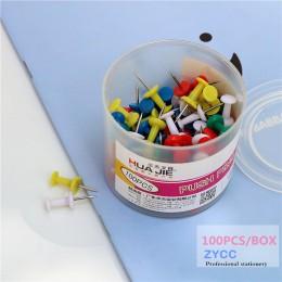 100 szt. Plastikowe szpilki oficjalna oprawa tablica korkowa bezpieczeństwo kolorowe szpilki duża główka igły