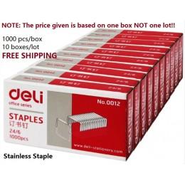 1000 sztuk/pudło zszywki ze stali nierdzewnej 24/6 zunifikowane zszywki do biura akcesoria szkolne 12